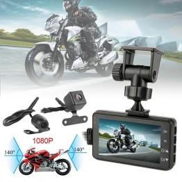 Μοτοσικλέτας διπλή κάμερα καταγραφής με οθόνη 3'' Full HD