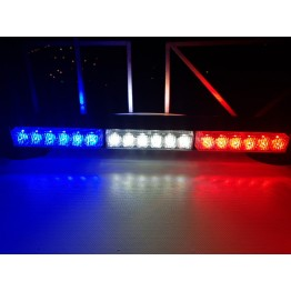 108w Διπλή μαγνητική μπάρα Μπλέ-Άσπρο-Κόκκινο φάρος LED Strobe