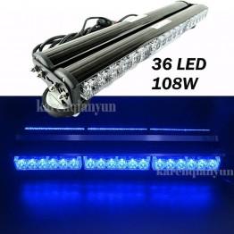 108w Διπλή μαγνητική μπλέ μπάρα - φάρος LED Strobe ασφαλείας