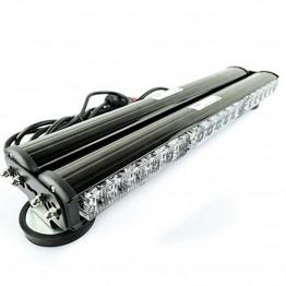 108w Διπλή μαγνητική άσπρη μπάρα - φάρος LED Strobe