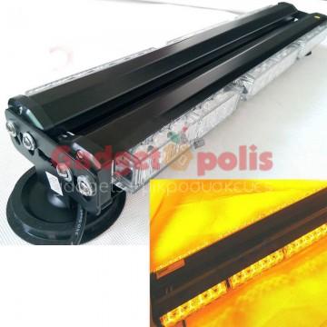 108w Διπλή μαγνητική πορτοκαλί μπάρα - φάρος LED Strobe ασφαλείας