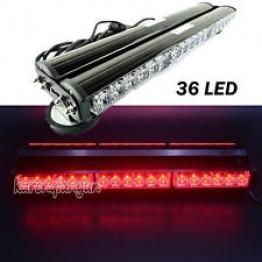 108w Διπλή μαγνητική κόκκινη μπάρα - φάρος LED Strobe ασφαλείας