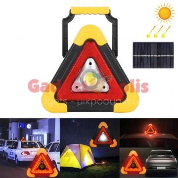 10W Φορητό φωτιστικό τριγώνο multi function solar 500 LM