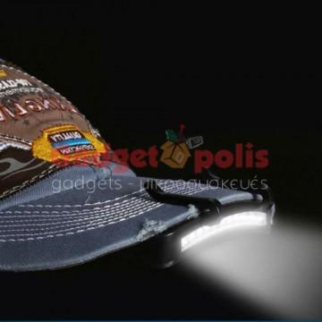 Κλίπ με 11 Led φακός για καπέλο