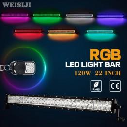 120W Πολύχρωμη RGB LED Φωτεινή Μπάρα Combo Strobe μτ τηλεχειριστήριο