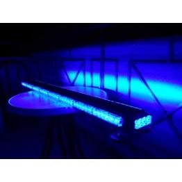 126cm Μπλέ μαγνητική διπλή μπάρα φάρος 102 LED 306w 12v