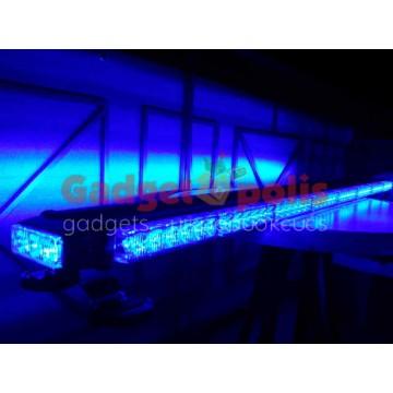 111cm Μπλέ μαγνητική διπλή μπάρα φάρος 90 LED 270w 12v