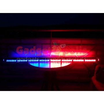 126cm Μπλέ με Κόκκινο μαγνητική διπλή μπάρα φάρος 102 LED 306w 12v (POLICE)