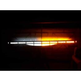 126cm Πορτοκαλί-Άσπρο μαγνητική διπλή μπάρα φάρος 102 LED 306w 12v