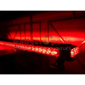 111cm Κόκκινη μαγνητική διπλή μπάρα φάρος 90 LED 270w 12v