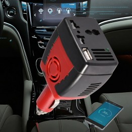 Inverter αναπτήρα αυτοκινήτου 150W 12V σε 220V με USB