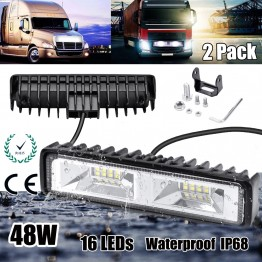 Προβολάκια μίνι bar 16 LED 48W 4800LM (2τμχ)