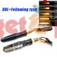 Φλας μοτοσυκλέτας DRL 2x15 Led 12V (2τμχ)