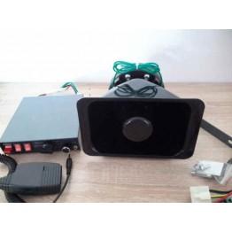 200W 12V Επαγγελματική σειρήνα με μικρόφωνο 12V
