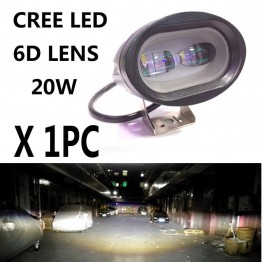 20W 6D Cree Led 12V προβολέας moto-auto