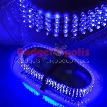 Μαγνητικός μπλέ φάρος 12V Strobe Light Bar 240 Led