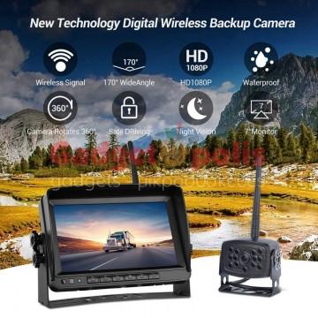 """Ασύρματη κάμερα IP69 με οθόνη μόνιτορ 7"""" 1080 HD 24V"""