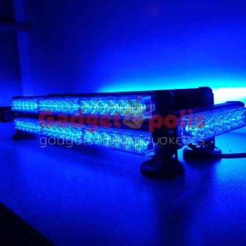 Μαγνητική διώροφη μπλέ μπάρα 252w φάρος LED Strobe 12v