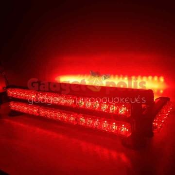 Μαγνητική διώροφη κόκκινη μπάρα 252w φάρος LED Strobe 12v