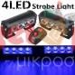 2x4 LED 12V Αυτοκίνητου Strobe Προειδοποίησης Έκτακτης Ανάγκης