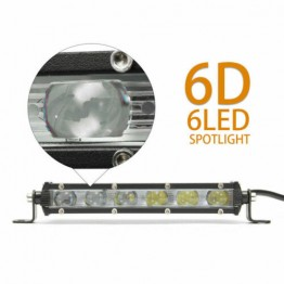 Προβολάκια μίνι bar 6 LED 30W Spot Beam Ultra Thin 12/24V