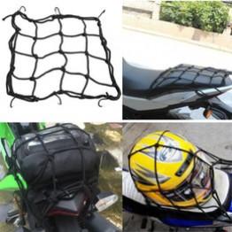 Ισχυρό ελαστικό μαύρο δίχτυ 40x40cm μοτοσυκλέτας