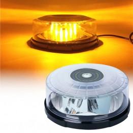 Μαγνητικός πορτοκαλί φάρος Strobe με 48 LED12-24v