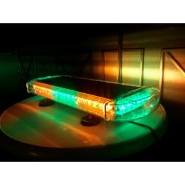 Μαγνητικός φάρος Led πράσινο-πορτοκαλί 55cm 12V Strobe 48w