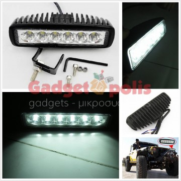 LED προβολείς moto-ieep-offroad 18W (2 ΤΕΜ)