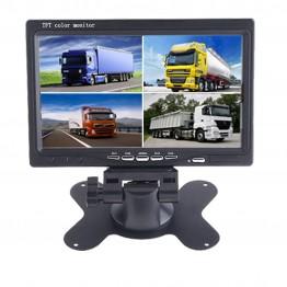 """Οθόνη μόνιτορ 7"""" LCD LED με 4 εξόδους βίντεο για Φορτηγά, λεωφορεία"""