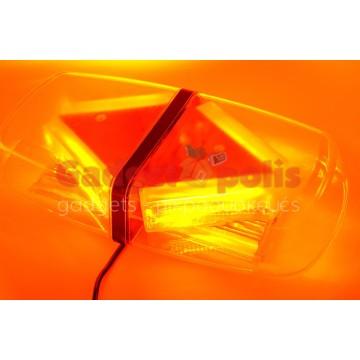 Μαγνητικός πορτοκαλί φάρος οροφής 12V COB LED 40W
