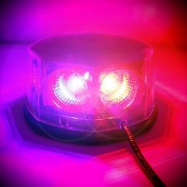 Μαγνητικός φάρος 48w με 8 Cob Led Μπλέ-Κόκκινο (POLICE)