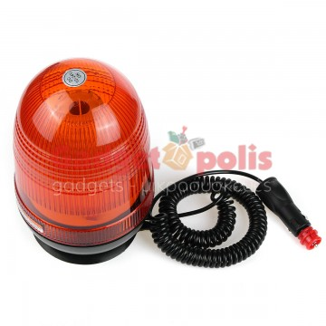 Μαγνητικός πορτοκαλί φάρος με 80 LED 12-24V 32W