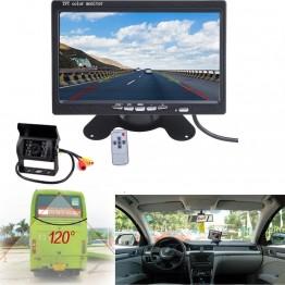 """Οθόνη μόνιτορ 7"""" και κάμερα 18Led για Φορτηγά Λεωφορεία"""