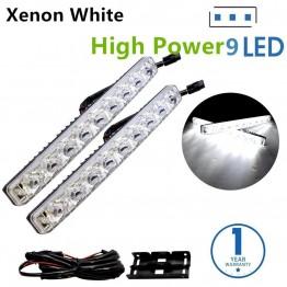 Led φώτα ημέρας 2x9w κιτ υψηλής ποιότητας