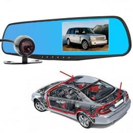 Καθρέφτης αυτοκινήτου με διπλή κάμερα καταγραφής με 4.3 οθόνη 1080p