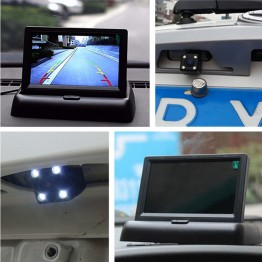 Οθόνη μόνιτορ & κάμερα οπισθοπορείας με 4 Led αυτοκινήτου