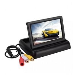 Οθόνη μόνιτορ Lcd 4.3 με 2 εξόδους βίντεο αναδιπλούμενη αυτοκινήτου