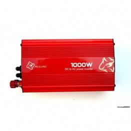 Inverter αυτοκινήτου από DC 12V σε AC 220V με έξοδο USB 5V – 1000W