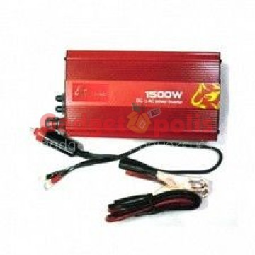 Inverter αυτοκινήτου από DC 12V σε AC 220V με έξοδο USB 5V – 1500W