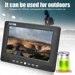 """Φορητή 7""""ψηφιακή τηλεόραση 1080P DVB-T / T2 TV LED HDMI USB AV"""