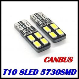 Led λάμπες 2 Χ 8 T10 5730 CANBUS αυτοκινήτου