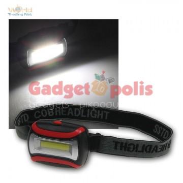 Φακός κεφαλής 3w COB LED 3 mode
