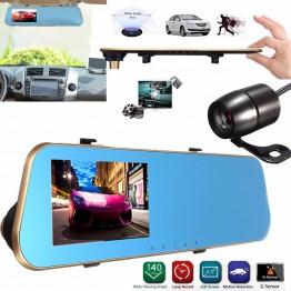 Κάθρέφτης με οθόνη 4.3 & 2 κάμερες καταγραφής Full HD 1080p αυτοκινήτου