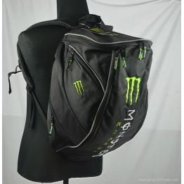 Σακίδιο πλάτης μεταφοράς κράνος λάπτοπ Monster Energy μοτοσυκλέτας