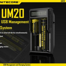 Nitecore UM20 USB Power LCD Ευφυής Li-ion φορτιστής μπαταριών
