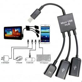 OTG Micro Usb Hub για Smartphone και Tablet