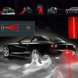 Πίσω Led Laser προειδοποιησης σύγκρουσης αυτοκινήτου απο ομίχλη