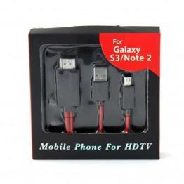 Καλώδιο MHL Micro USB-HDMI Samsung HDTV 2m