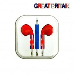 Ακουστικά hands-free με αγγλική σημαία για Apple iphone